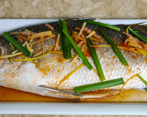 STEAMED  FISH ASIAN DRESSING