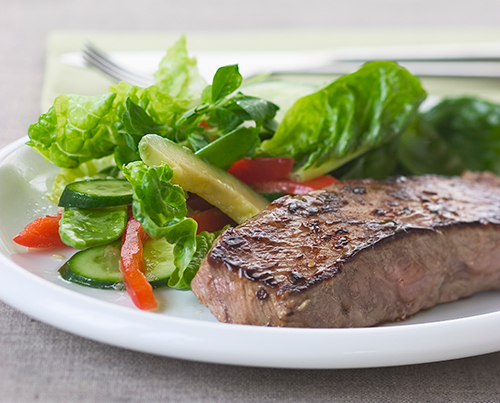 220 steak piment salade